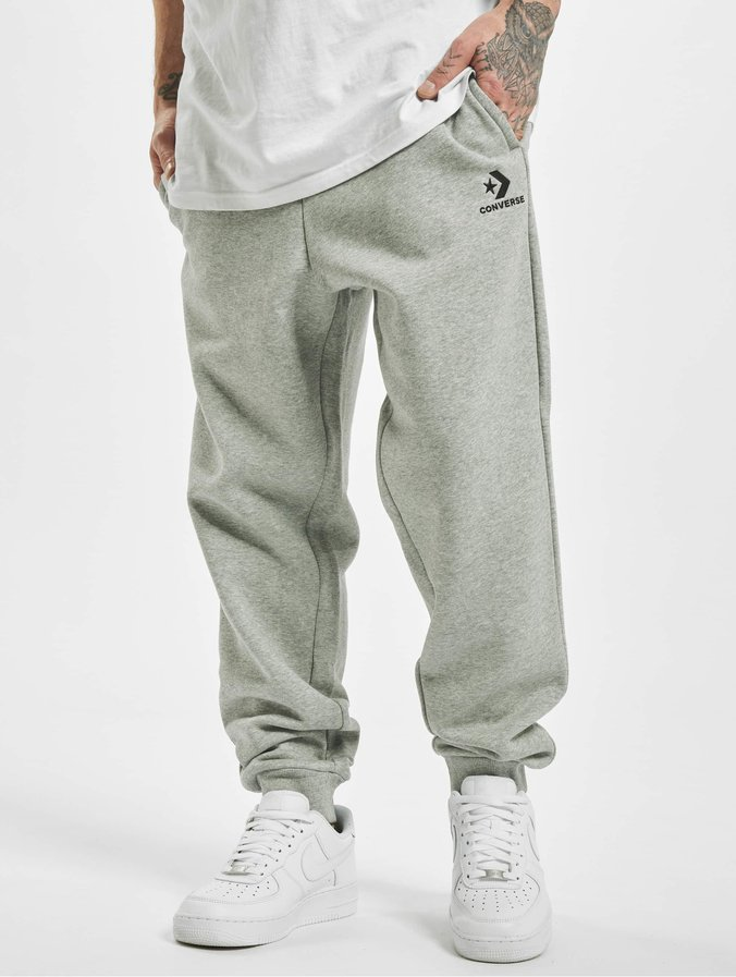 Converse Star Chevron Embroided Sweat Pants Vintage Grey Heather