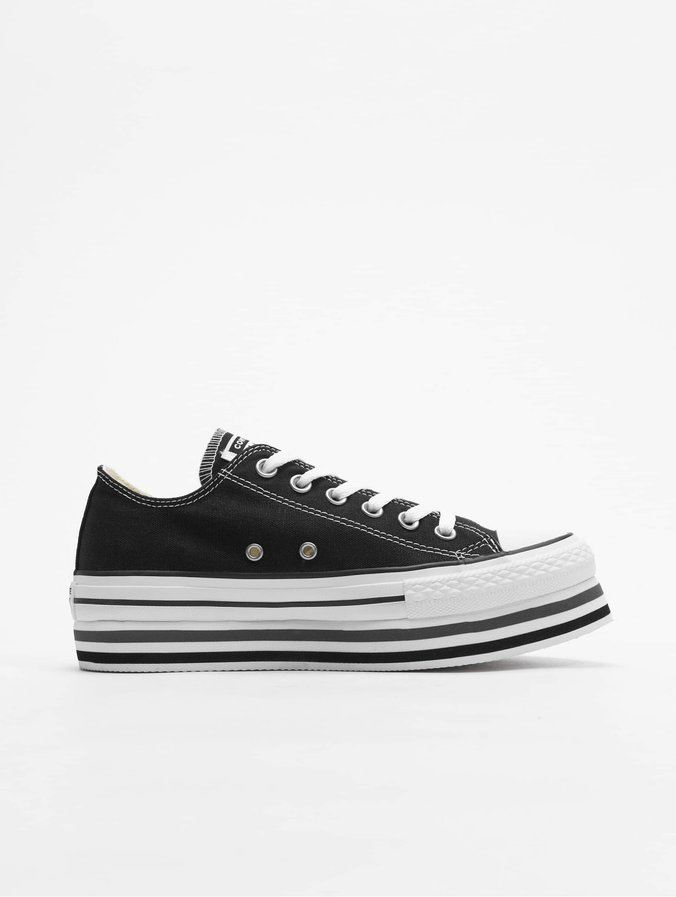 Converse Chuck Taylor All Star Platform Layer Ox Sneakers  Black/White/Thunder