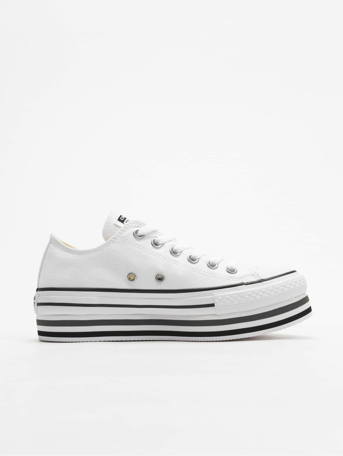 Converse Chuck Taylor All Star Platform Layer Ox Sneakers WhiteBlackThunder