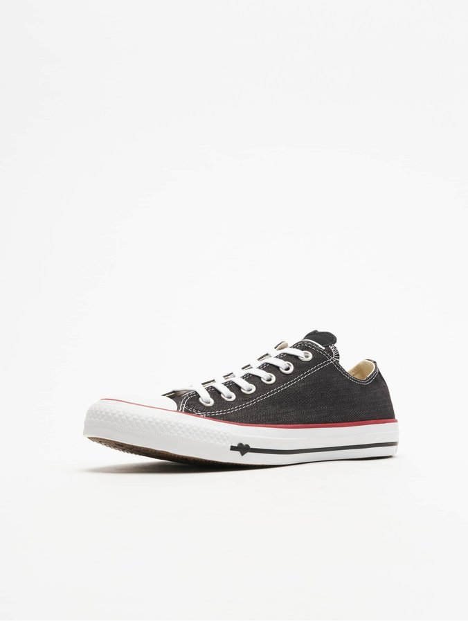 Converse black sneakers with platform Chuck Taylor All Star Lift Ox BlackWhiteCoastal Pink