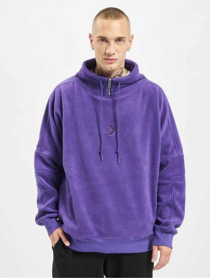 Converse Polar Fleece Archive Funnel Top Sweatshirt Court Purple