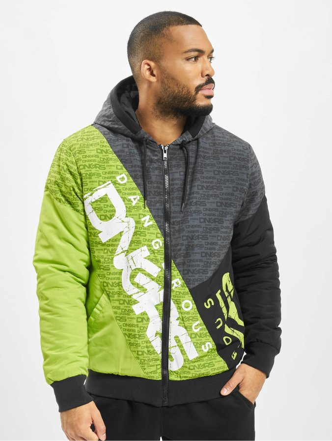 Dangerous DNGRS Tower Jacket Black Lime Green