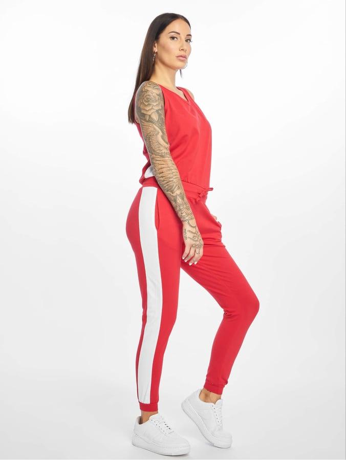 e0c0d478a4fd5c DEF Damen Jumpsuit Bat in rot 525034