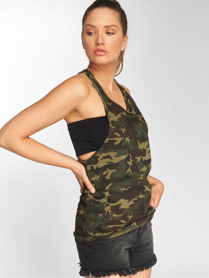 08641f25e4 DEF Damen Tank Tops Ava in camouflage 432210