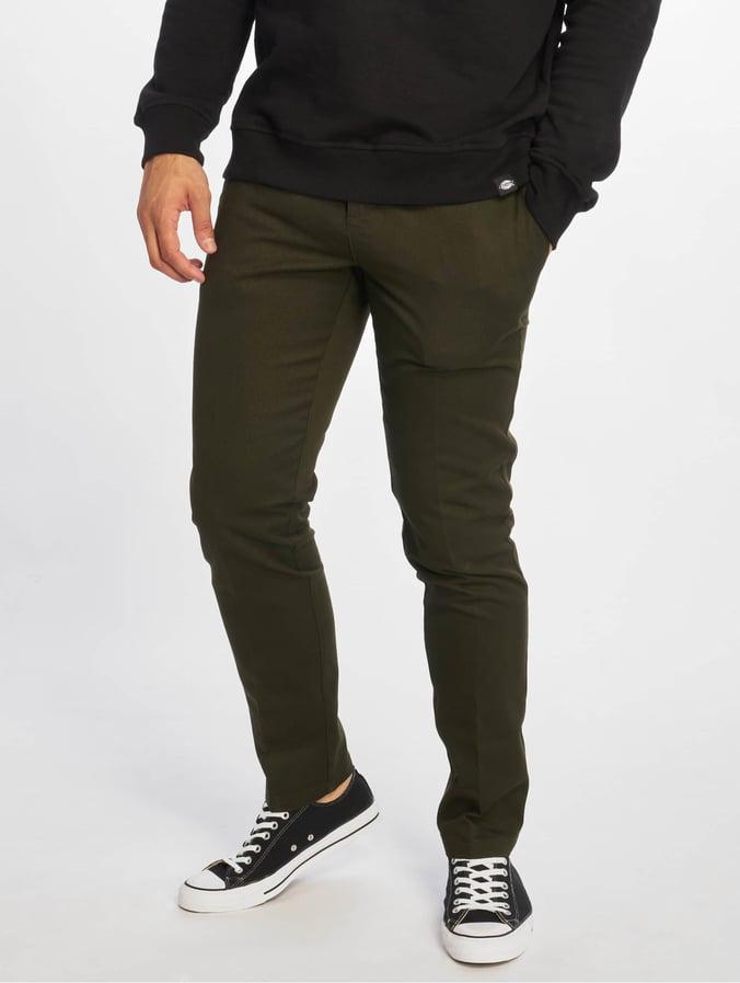 le plus en vogue les plus récents nouvelle version Dickies Slim Fit Work Pants Olive Green