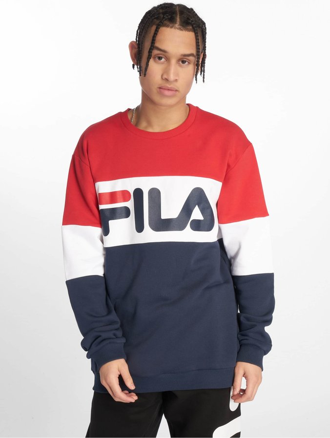 Fila Urban Line Straight Blocked Sweatshirt Black IrisTrue RedBright White