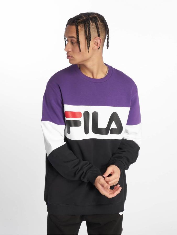 Fila Urban Line Straight Blocked Sweatshirt Black/Tillandsia Purple/Bright  White