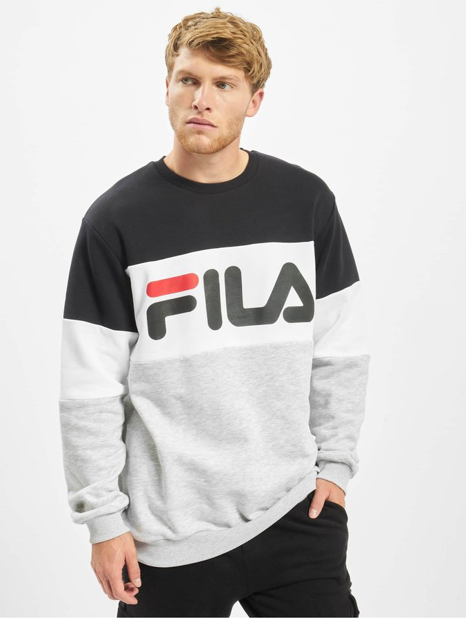 Fila Urban Line Straight Blocked Sweatshirt BlackLight GreyBright White