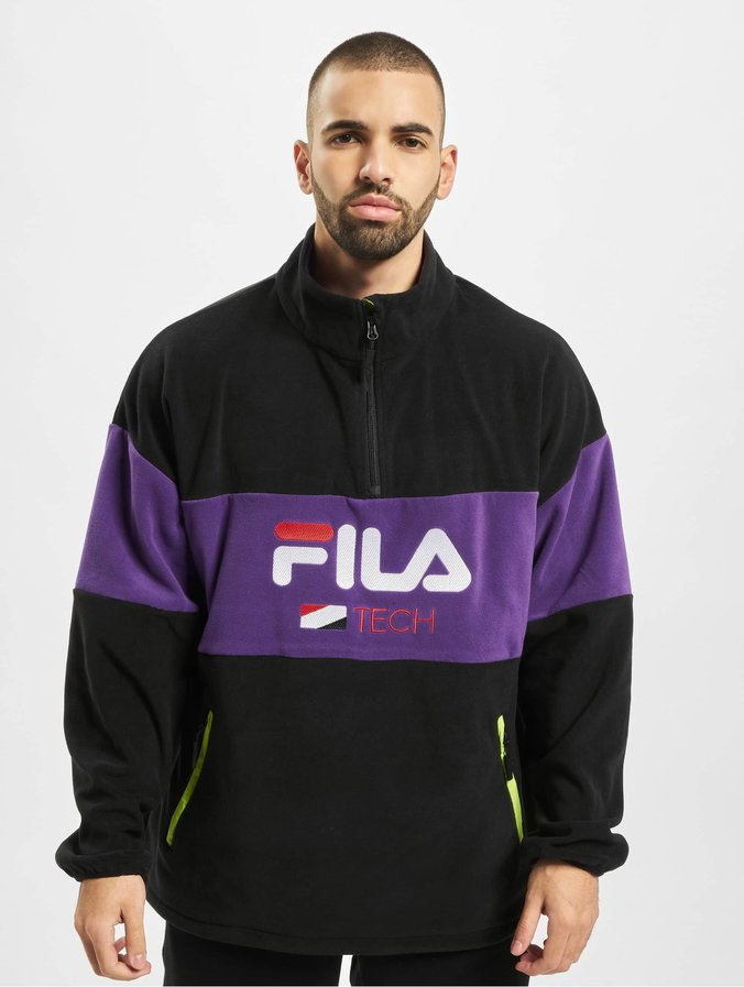 Fila Urban Line Half Zip Fleece Shirt BlackTillandsia Puprle