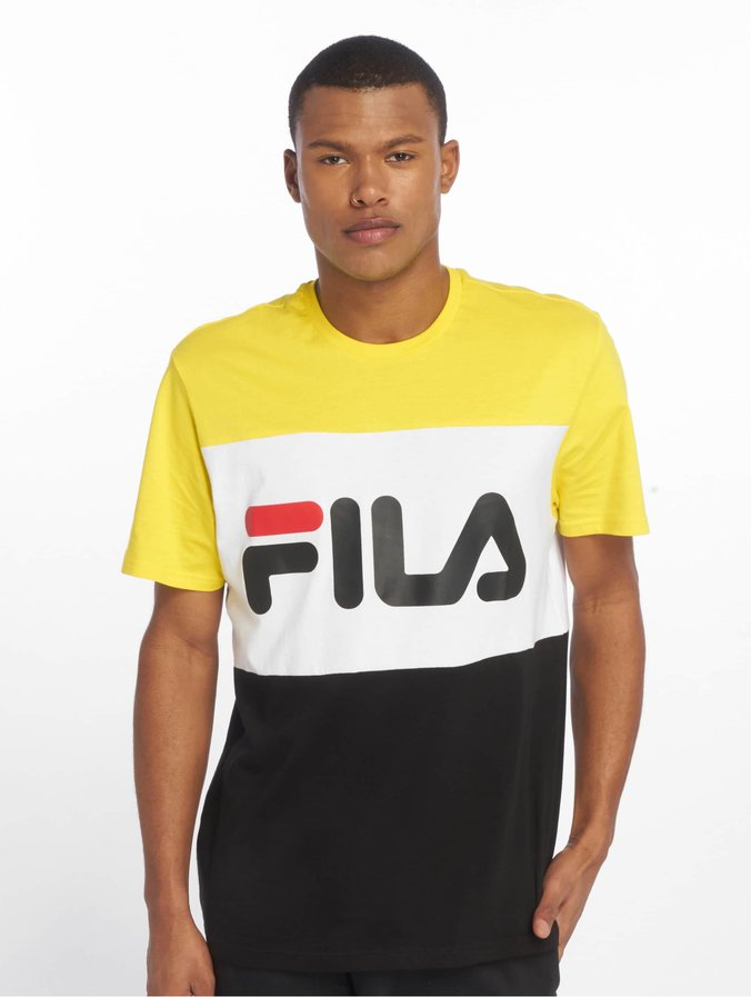 Fila Day T-Shirt Black/Empire Yellow/Bright White