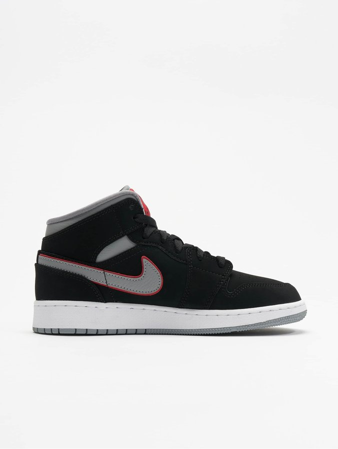 livraison gratuite 1436a 9dcbd Nike Air Jordan 1 Mid (GS) Sneakers Black/Particle Grey/White/Gym Red