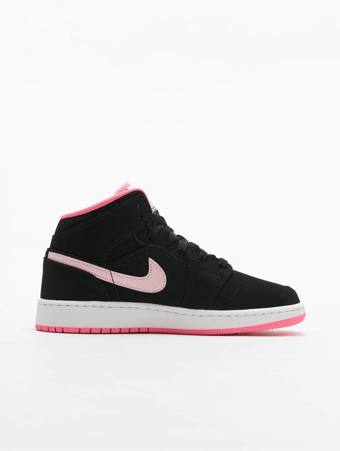 Nike Jordan 1 Mid hvide og sorte sneakers