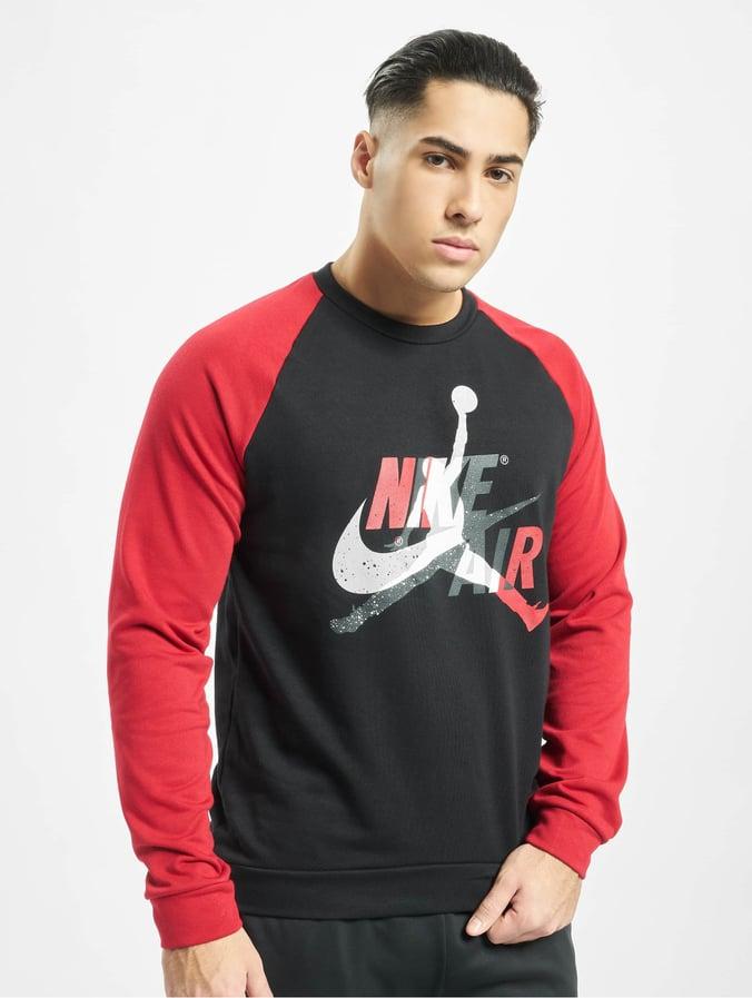 Jordan Jumpman Classics Fleece Crew Sweatshirt BlackGym Red