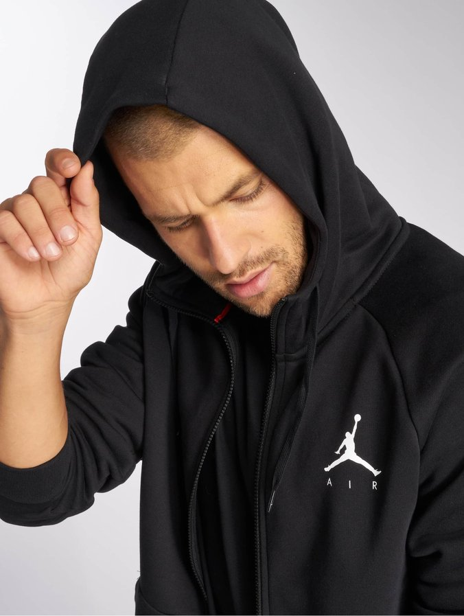 Jordan Sportswear Jumpman Fleece Full Zip Hoody BlackWhite
