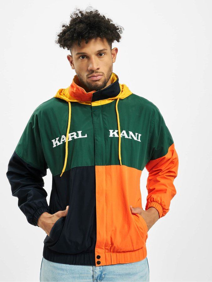 Karl Kani Retro Block Windbreaker GreenBlueOrangeYellow