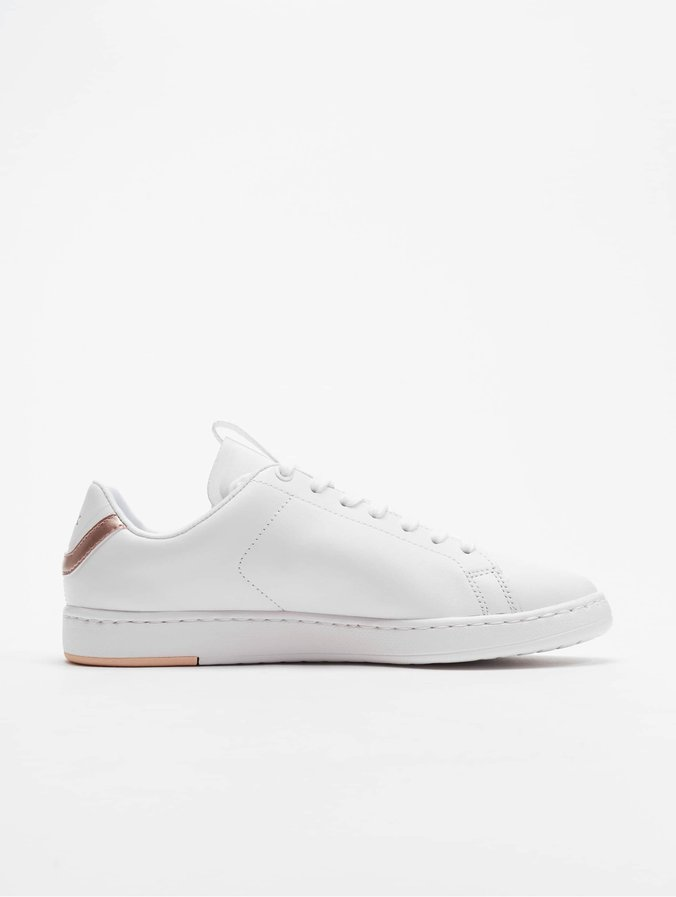 Online Shop Weiß Flache Schuhe | Lacoste Damen Carnaby Evo