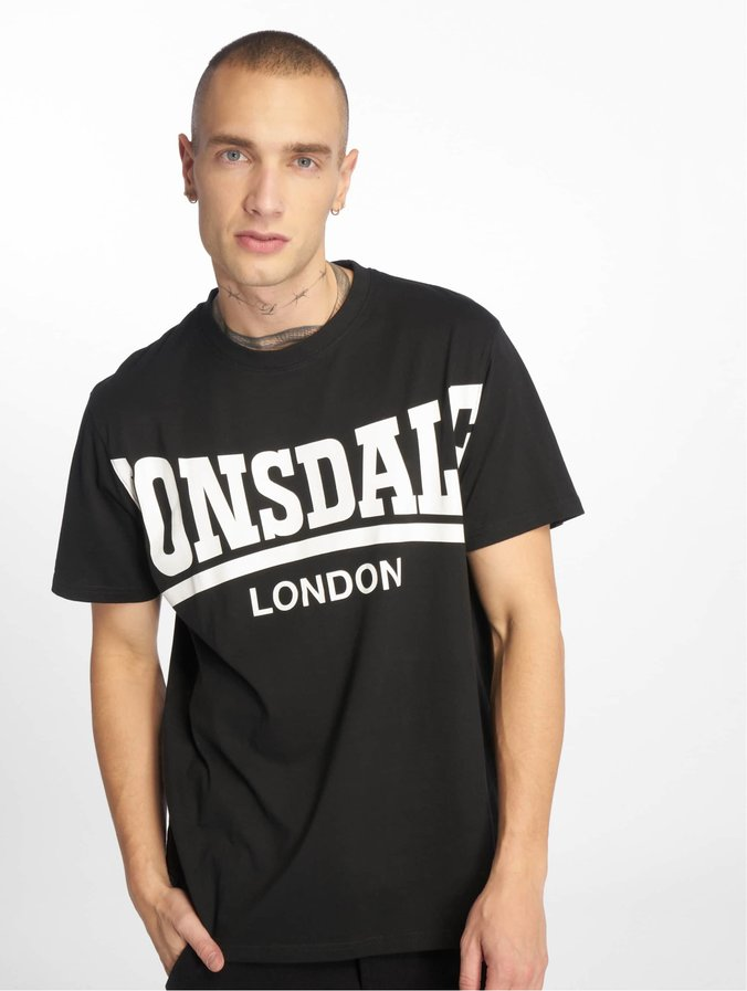 Lonsdale London York T Shirt Black