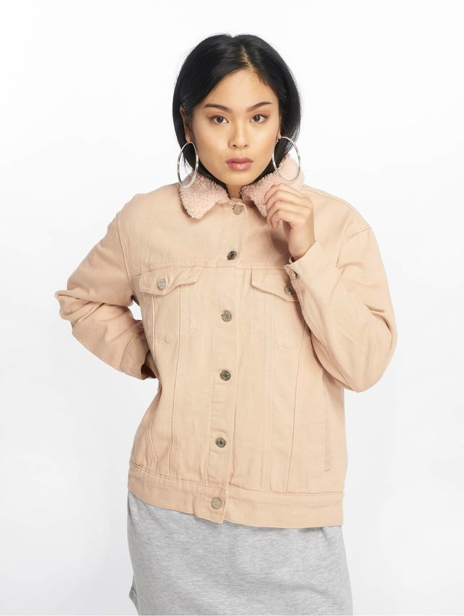 new concept 0bb64 09ecd Missguided Oversized Teddy Faux Fur Denim Jacket Nude