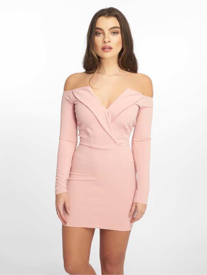 d9725a85f682 Missguided / jurk Bardot Foldover Wrap in rose 630305