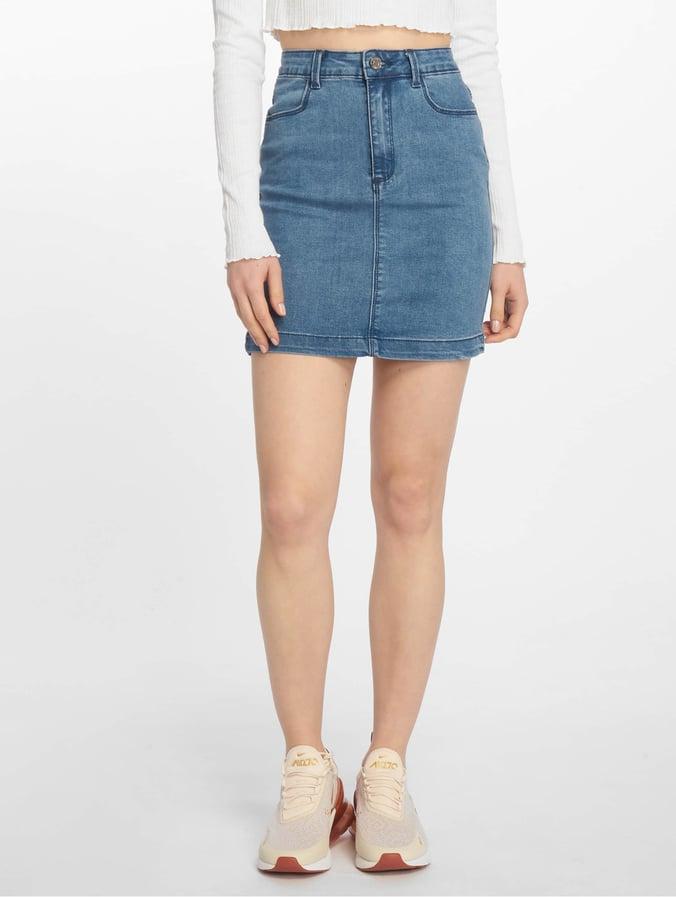 Missguided Super Stretch Denim Mini Skirt Stonewash Stone