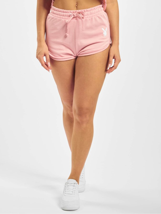 Missguided Playboy Lounge Runner Shorts Pink