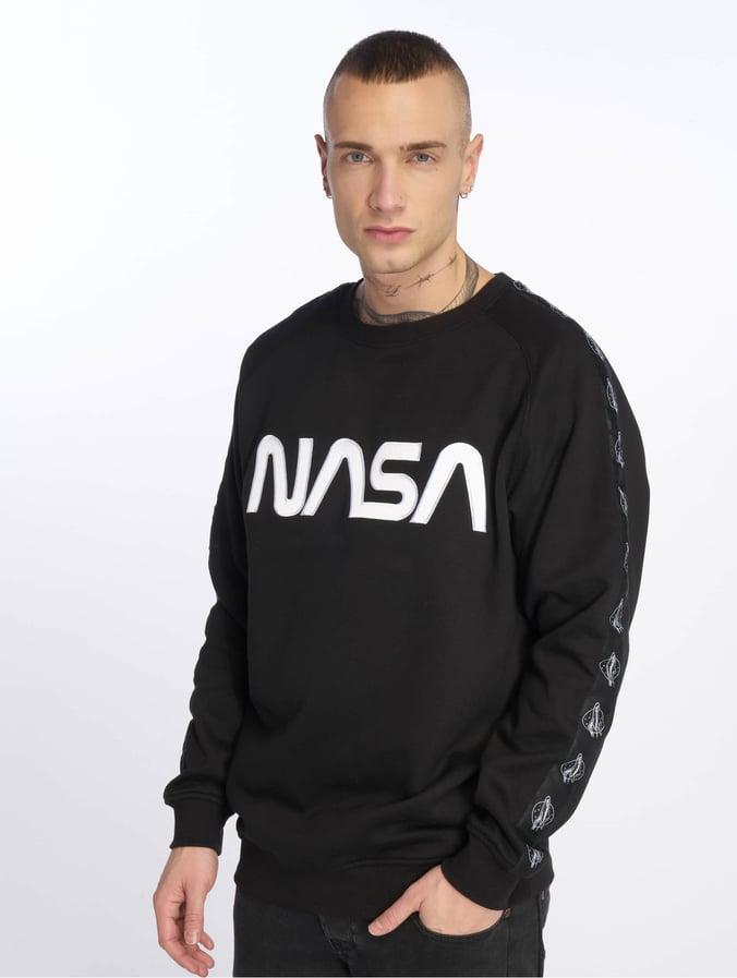 en gros comment choisir mode de premier ordre Mister Tee Nasa Wormlogo Rocket Tape Sweatshirt Black