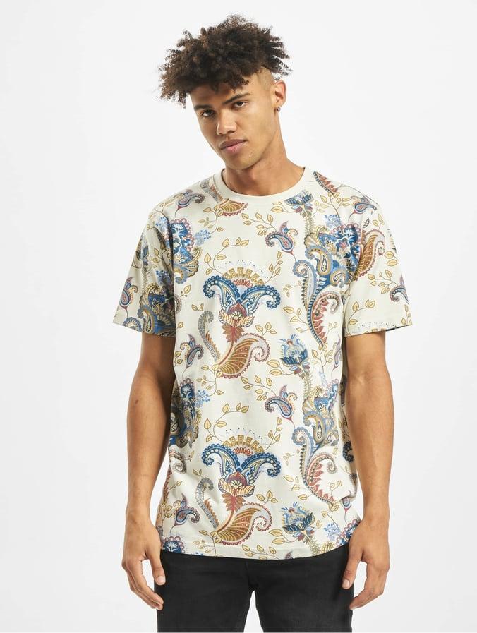 Mister Tee Paisley T Shirt Sand