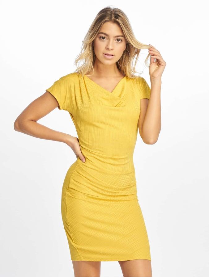 first rate 72a54 0844c Na-Kd Drape Midi Dress Yellow