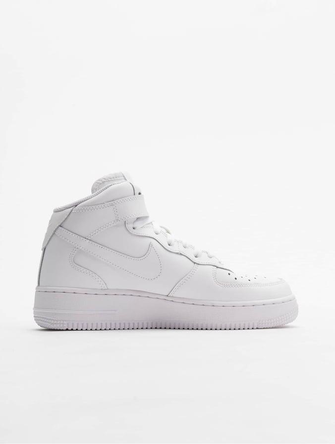 23d1da7a36f37 Nike   Air Force 1 Mid Kids Basketball blanc Baskets 52721