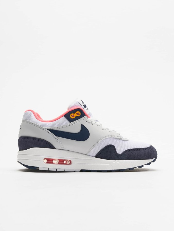 énorme réduction 858d9 3c479 Nike Air Max 1 Sneakers White/Midnight Navy/Pure Platinum