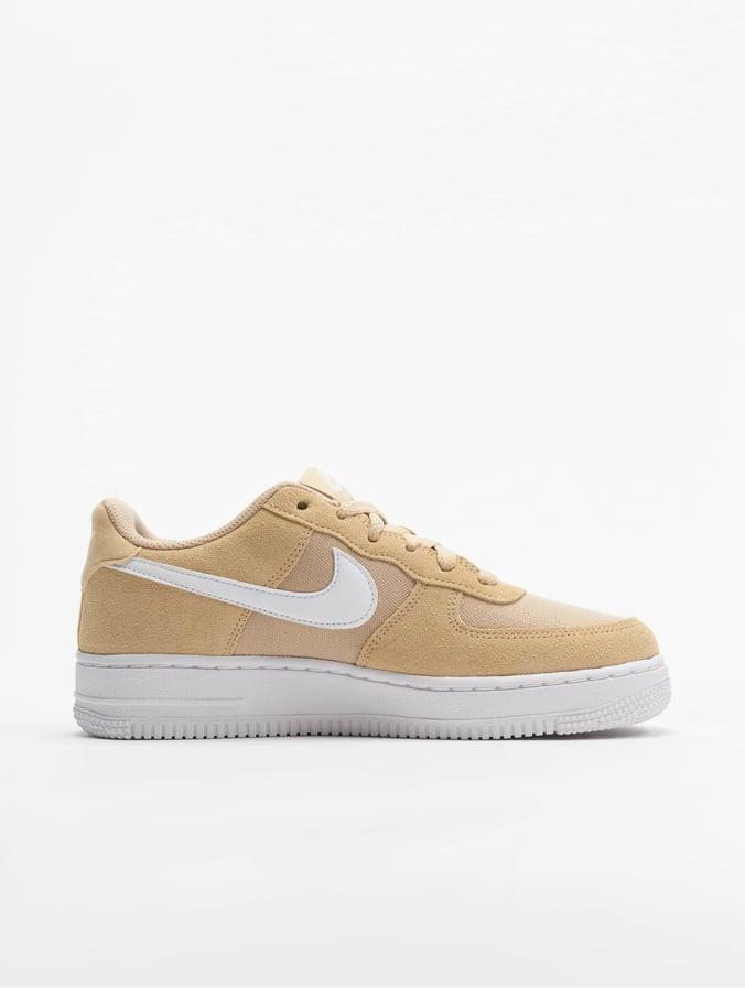 grande vente ce391 3fe45 Nike Air Force 1 PE (GS) Sneakers Desert Ore/White