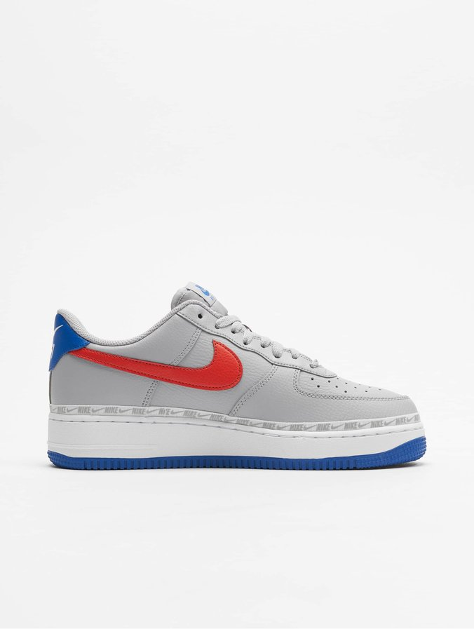 design intemporel 134b1 1108e Nike Air Force 1 `07 LV8 Sneakers Wolf Grey/Habanero Red/Game Royal
