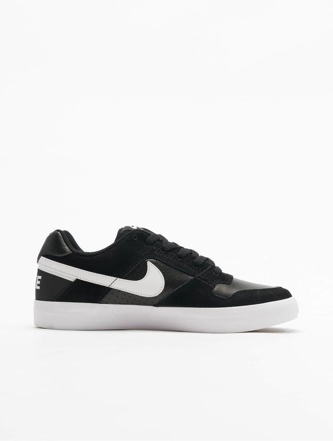 buy good size 7 new cheap Nike SB Delta Force Vulc Skateboarding Sneakers Black/White/Anthracite White