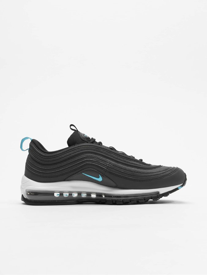 super specials in stock picked up Nike Air Max 97 Low Top Sneakers Black/Blue Fury/Dark Grey