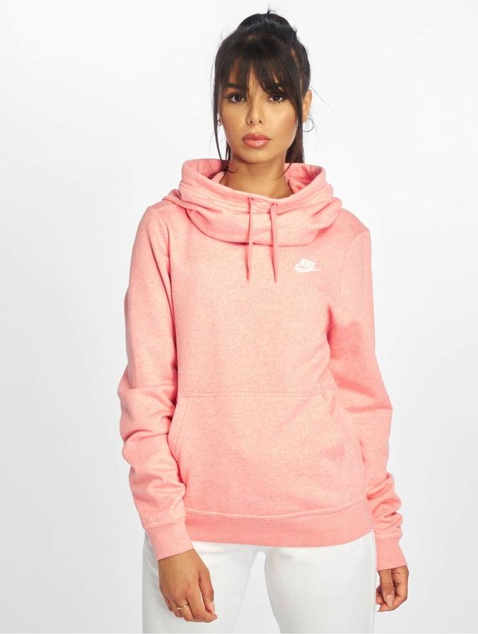 sale retailer 8c609 1f6d0 Nike Sportswear Funnel Neck Hoody Sunblush/Heather/Sunblush/White