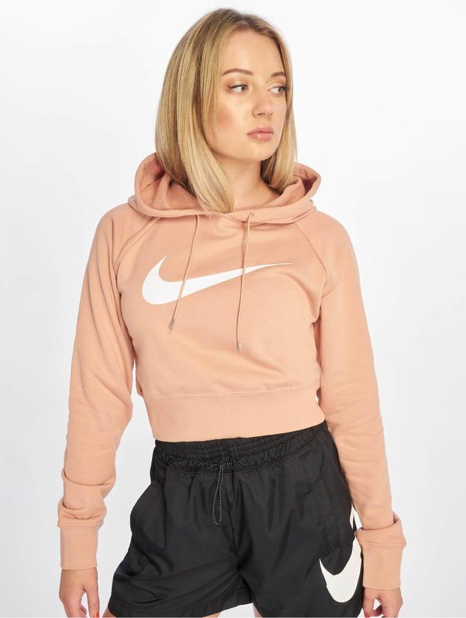 neueste Genieße den kostenlosen Versand tolle Passform Nike Swoosh Crop FT Hoody Rose Golden/White