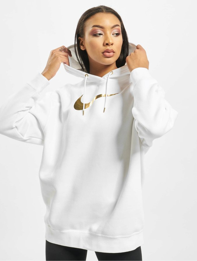 Nike BB OS Shine Hoodie WhiteWhiteMetallic Golden