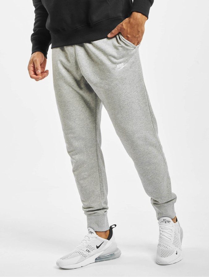 popular brand high fashion outlet on sale Nike Club Jogger Fit Sweat Pants Dark Grey Heather/Matte Silvern/White