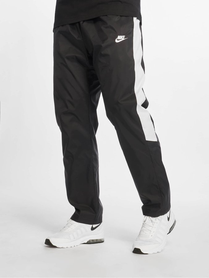 save up to 80% popular brand on feet images of Nike Oh Woven Core Track Pants Black/White/White