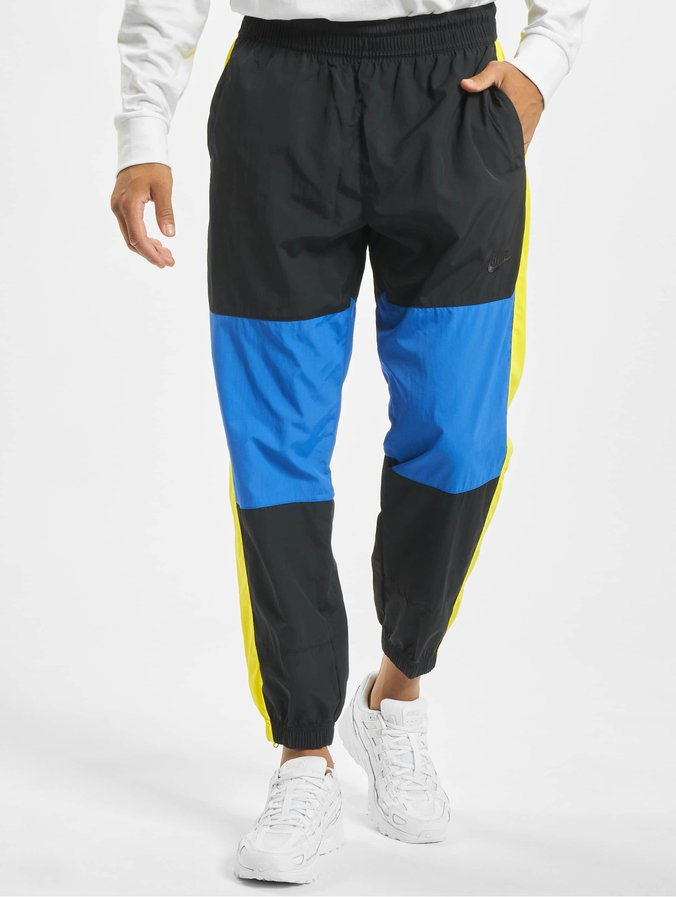 buy online good looking reasonably priced Nike Re-Issue Woven Sweat Pants Black/Game Royal/Dynamic Yellow/Black