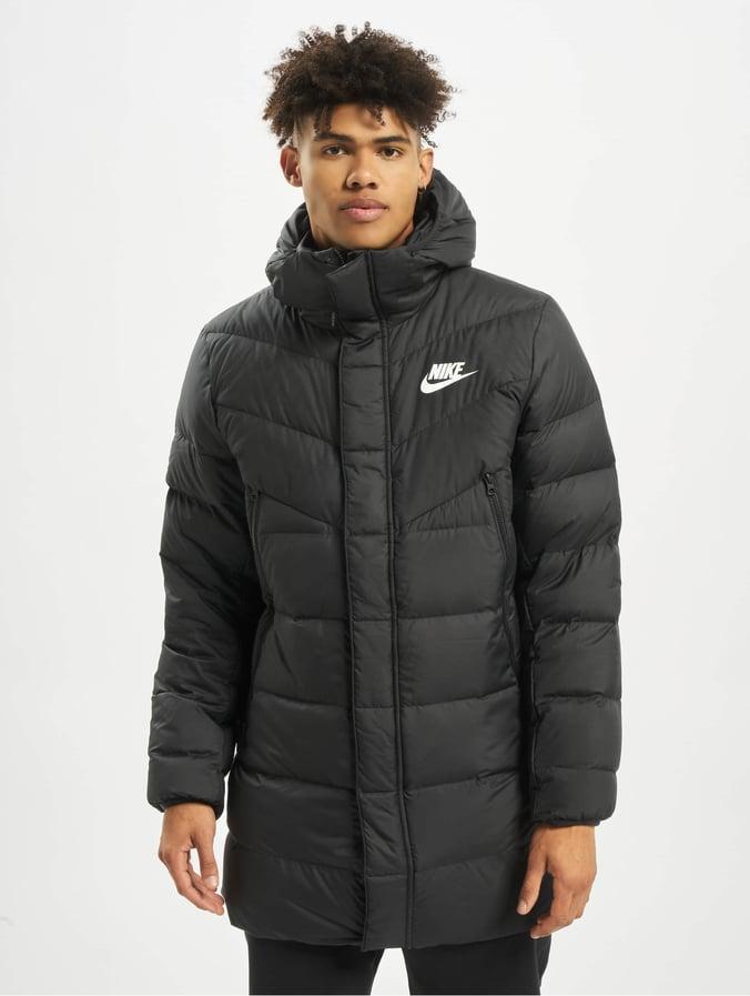 Nike Down Fill Windrunner Parka HD RUS Coat BlackBlackBlackWhite