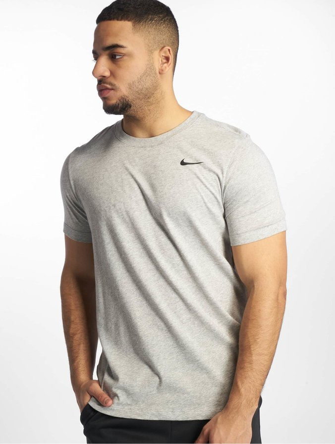 Nike Dri Fit T Shirt Dark Grey HeatherBlack