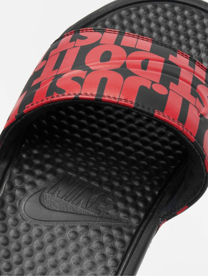 Nike Benassi JDI Print Sandals BlackUniversity Red