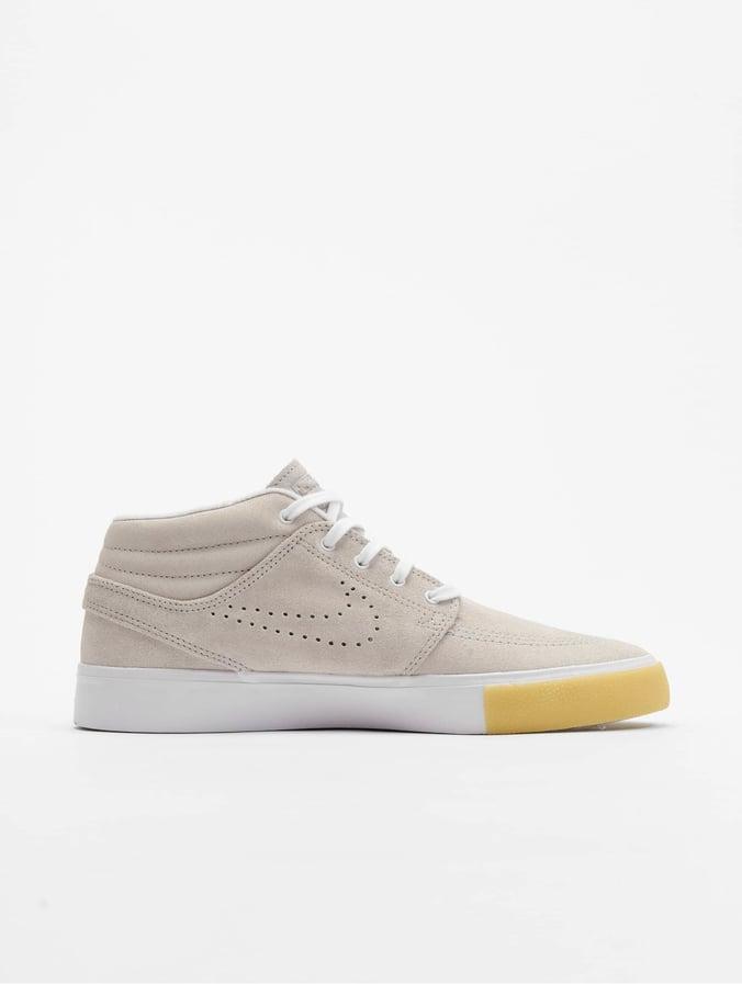 Nike SB Zoom Janoski Mid Sneakers WhiteWhiteVast GreyGum Yellow