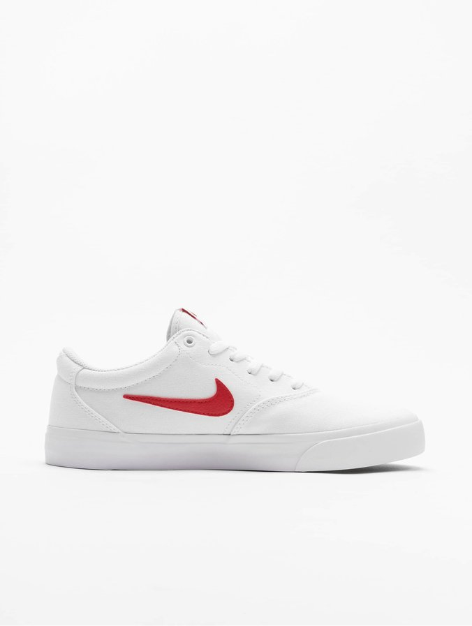 Nike SB Charge Canvas Sneakers White/University Red/White/White