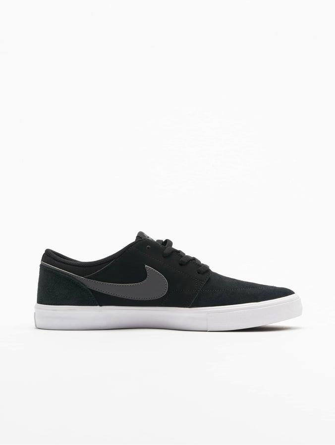 Nike SB Solarsoft Portmore ll Skateboarding Sneakers BlackDark Grey White