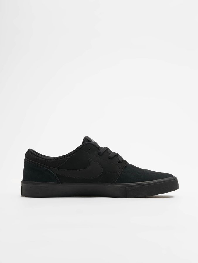Nike SB Solarsoft Portmore II Skateboarding Sneakers BlackBlack