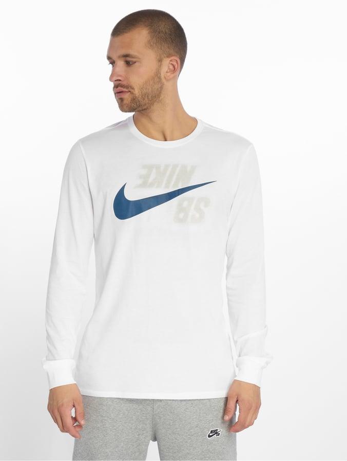 b0872f9545f32 Nike SB | Logo blanc Homme T-Shirt manches longues 539538