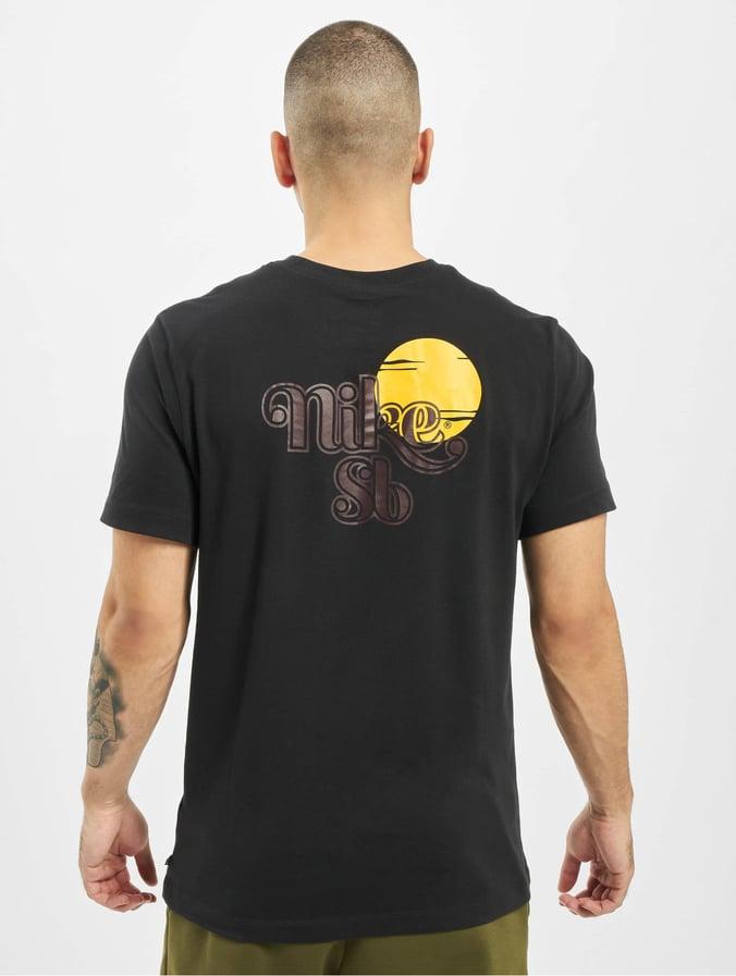 website for discount hot sales cute cheap Nike SB Sunrise T-Shirt Black/Mahogany