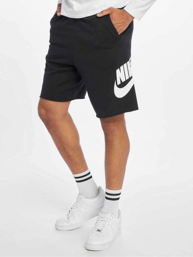 in stock best service quality Nike HE FT Alumni Shorts Black/Black/White/White
